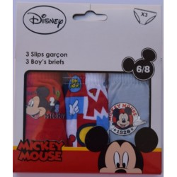 PACK 3 SLIPS MICKEY MOUSE NIÑO